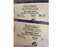 Eubank Vs. Groves tickets x BELOW FACE VALUE! - 17th February 2018