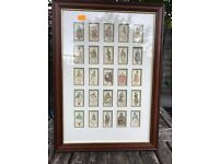 Players cigarette cards - CHARACTERS FROM DICKENS 25 cards in frame