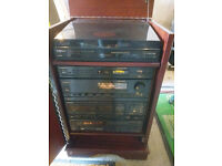 Rare and Complete Separates Pioneer System in custom made cabinet