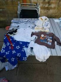 Large selection of baby boys clothes 3 to 6 months