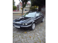 JAGUAR X-TYPE 2,5 SE AWD IN STUNNING BLACK WITH CREAM LEATHER FSH