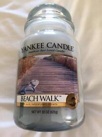 Yankee candle new beach walk .