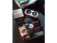 Gaming PC, AMD Ryzen 5 1500x, MSI B350 AM4 Tomahowk, 480GB SSD, 8GB DDR4, GTX 1060 6GB, 650W Gold+
