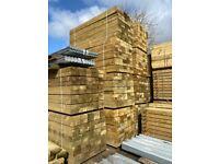 🌞 Tanalised Wooden/ Timber Railway Garden Sleepers ~ New