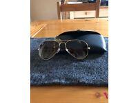 fe0288accf Genuine Ray-Ban Aviator Sunglasses