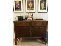 1920s Art Deco oak sideboard cabinet