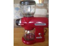 Kitchenaid Coffee Grinder. A Stylish Burr grinder in good condition.