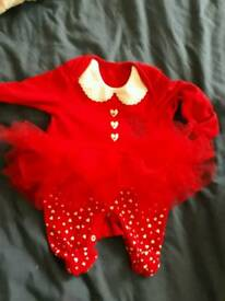 First size baby Santa outfit