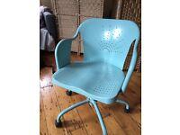 Office Chair w/ Wheels - Eggshell Blue