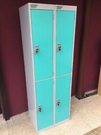 Two door personnel locker with keys - set of 2