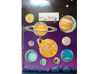 FREE: Solar system cardboard hanging mobile (self assembly) with push-out planets. Copath TD13 5