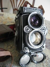 Rolleiflex 2.8E with case, filters and accessories