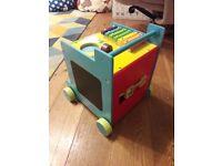 Baby walker activity cube
