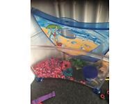 Small aquarium with accessories