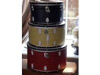 Fabulous Set of 3 Musicology Drum Set Style Large Storage Boxes