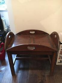 Antique wooden Butler table