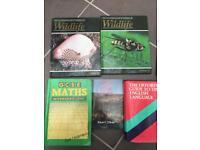 Wildlife, English language, maths, psychology books