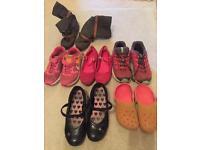 Girl's shoes bundle size 1 & 2