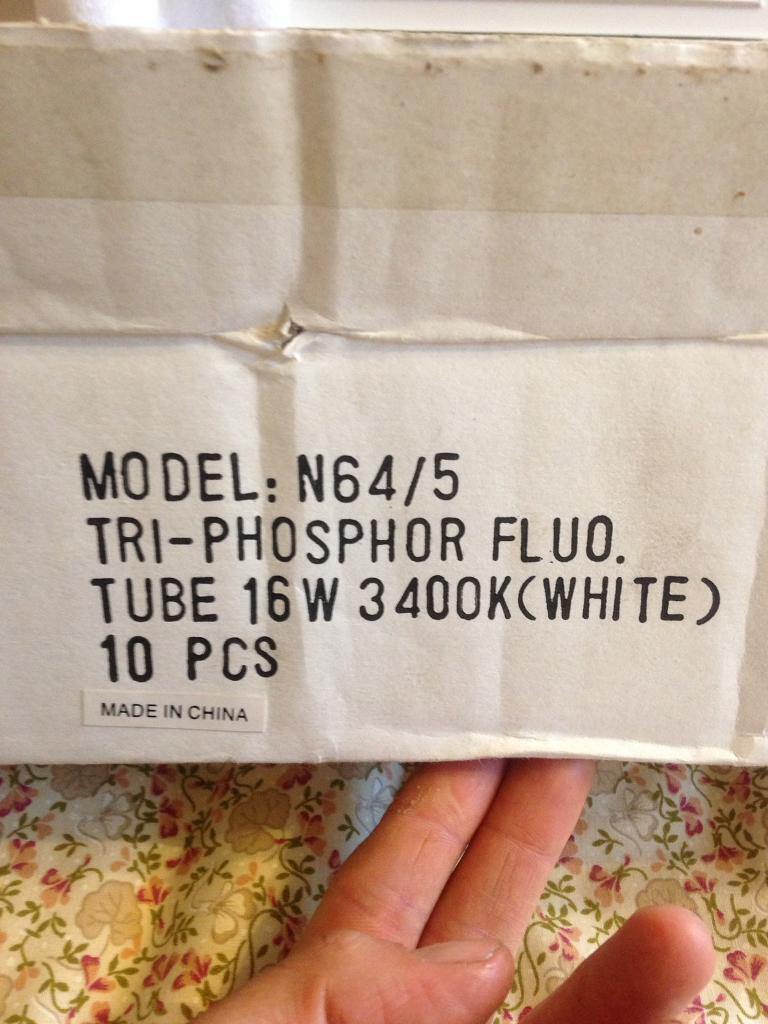 7 ultra slim fluorescent tubes
