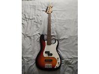 Squier by Fender Precision bass standard series 3 colour sunburst