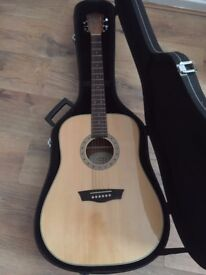 washburn acoustic guitar and hard case