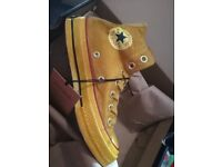 Bnib coffee/turmeric size 8-9.5 limited edition chuck taylor 70s converse dyed canvas 70...
