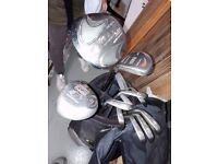 Women's golf clubs + bag + shoes