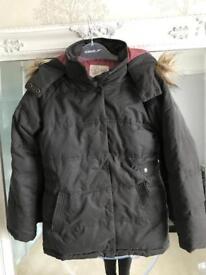 Fat Face girl hooded coat 12-13 ywars