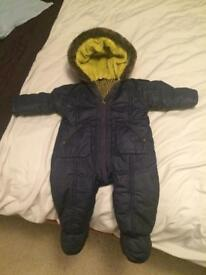 Baby winter snow suit 3-6months Ted Baker