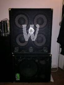*price drop* DISC Warwick WCA 411 PRO Series 8 Ohm Bass Cabinet + T.E Cabinet