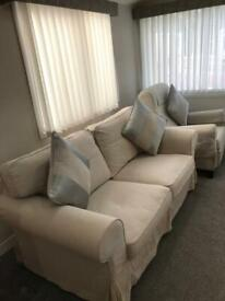 Sofa 2 Seater and Armchair Used