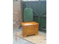 1960's ? Retro Wooden Dressing Table. With Three Bow Fronted Drawers. Can Deliver.