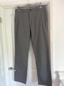Men's Gap Trousers Size 36 x 34 Grey