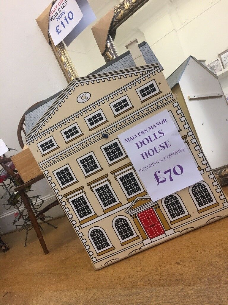 Vintage dolls house with accessories