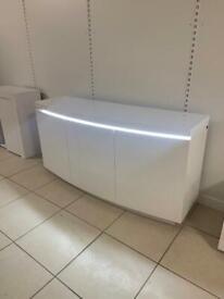 White high gloss sideboard / tv unit
