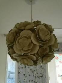 Cream flower ceiling light