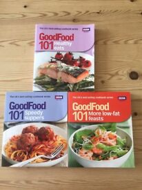BBC Healthy eating cookbooks x3