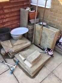 Paving Slabs (600mm x 600mm) - BARGAIN £50 For Everything