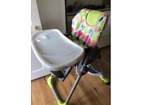 Chicco high chair- high quality with back wheels