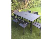 Garden table and 8 chairs