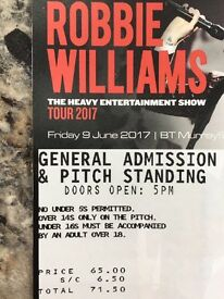 4x Standing Tickets - Robbie Williams, Edinburgh, 9th June 2017