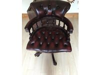 Captains Chair- Ox Blood Red