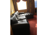 Large Brown leather corner sofa - In 2 parts - Outstanding condition