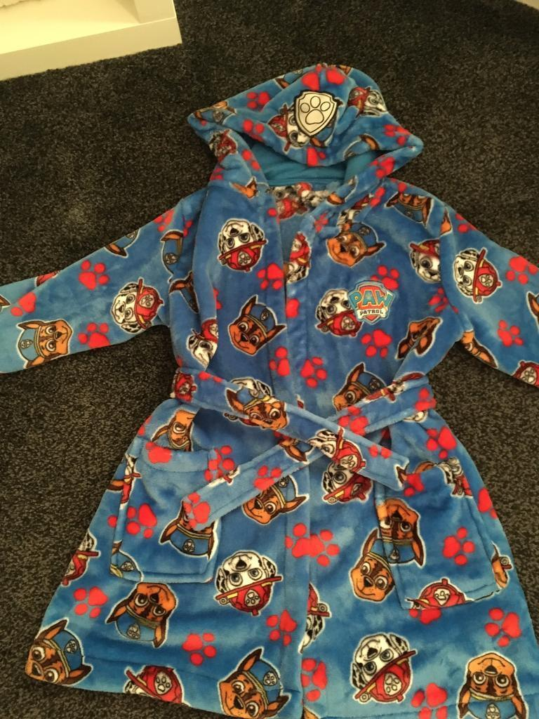 Boys paw patrol dressing gown