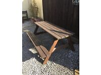 Wooden garden picnic table