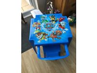 Paw patrol plastic table and chair