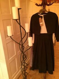 Fabulous Cabbages & Roses dress and jacket. Eyecatching navy and cream. Perfect winter showstopper.