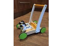 Hape galloping zebra wooden walker