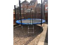 WoodWorm 10FT Trampoline with safety net and cover