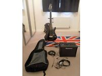 Electric guitar, amp and accessories